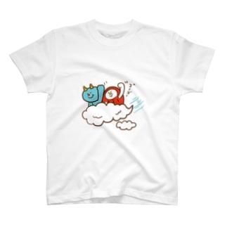 盆ちゃんとポッピ、お空をドライブするの巻 Tシャツ