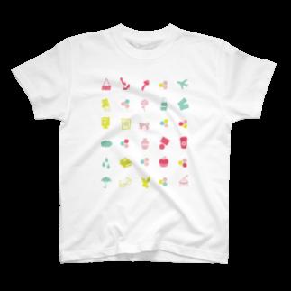 3pondSのpastel iconsTシャツ