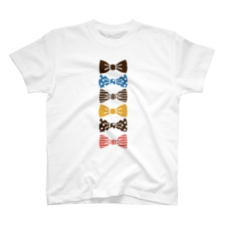 ribbon brown Tシャツ
