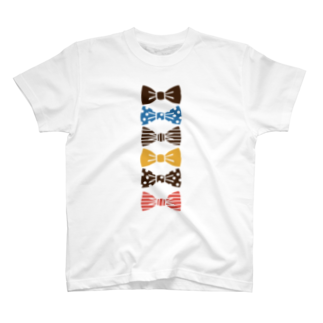 3pondSのribbon brownTシャツ