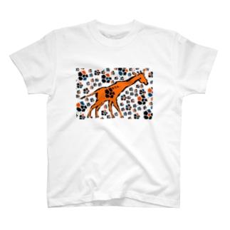 Giraffe(painted) Tシャツ