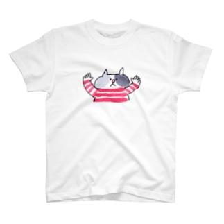 バンザイねこ Tシャツ