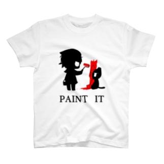 赤く塗れ Tシャツ