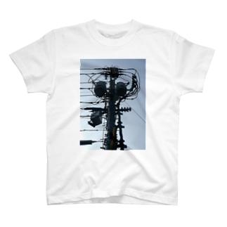 電柱 Tシャツ