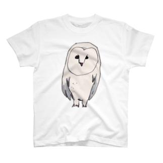 白いフクロウ T-shirts