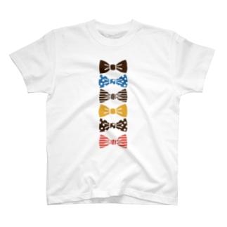 ribbon brown Tシャツ