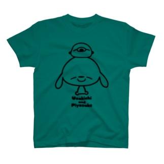 うさきちとぴよすけ その2(モノクロ) Tシャツ