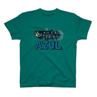 """Dark Blanco """"AZUL"""" シーラカンス Tシャツ"""