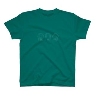 3monkeys_siro Tシャツ