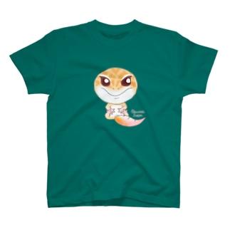 おすわりレオパ(ラプター系) Tシャツ