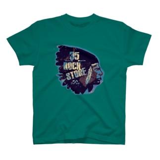35rock icon blue  Tシャツ