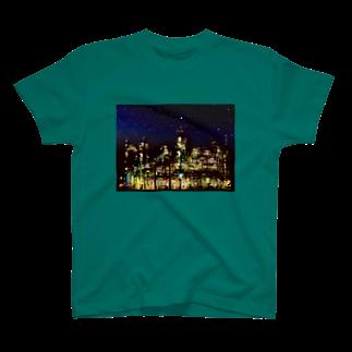 K×カットレットの工場moe!(夜空) T-shirts