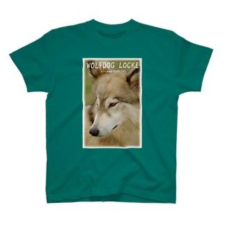 狼犬ロックフォト T-shirts