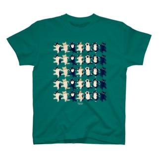 ラインダンス・ネコ T-shirts