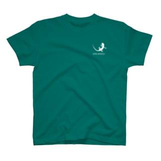 ヤモリ シルエット ロゴ ( ホワイト ) T-shirts