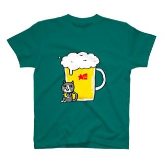 生ビール大で T-shirts