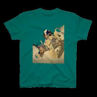 yoneumiの新形三十六怪撰 内裏に猪早太鵺を刺図 T-shirts