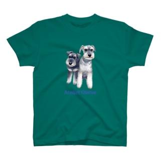 ミニチュアシュナウザー・カップル T-shirts