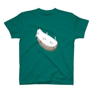 ハリネズミがこおろんだ T-shirts