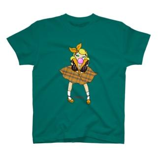 ロカビリーガールⅡ【orange】 T-shirts