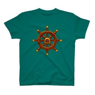 船の舵 T-shirts