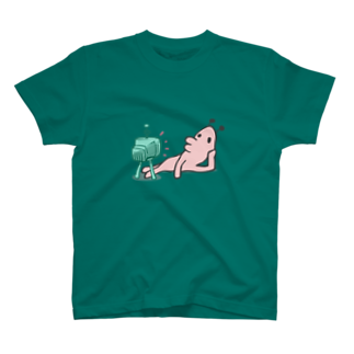 タキヲ@スタンプ販売「どうぶつくん」のどうぶつくん(テレビ) Tシャツ