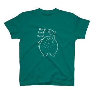るんるん犬(白ヌキ) T-shirts