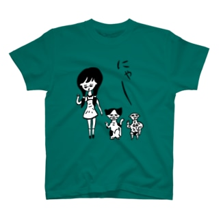 にゃー白入りT T-shirts