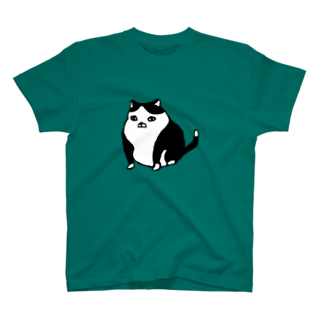 モモケグッズの例の猫まんなか T-shirts