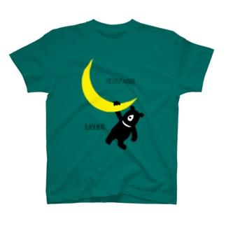 三日月とツキノワグマ T-shirts