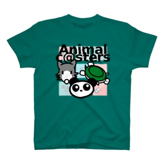 Animal c@sters ファンシーデザイン T-shirts