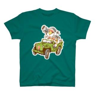 見境ないコザクラ&キンカ隊員 T-shirts