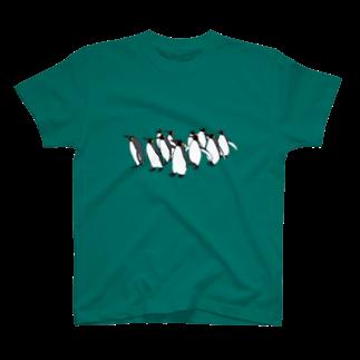 らぴの堂のペンギンのお散歩 T-shirts