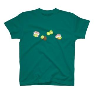 キウイとハムちゃん T-shirts
