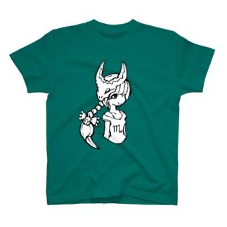 アトリエネコヤナギSHOPのスコーピオンガール T-shirts