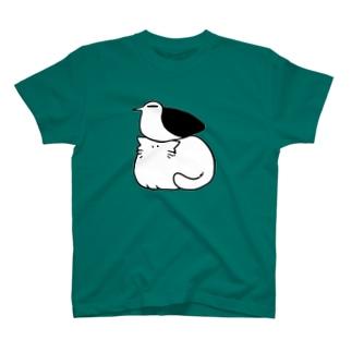 カモメと猫 T-shirts