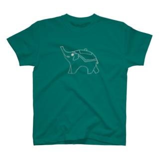 お茶ぞうさん(フラット) T-shirts