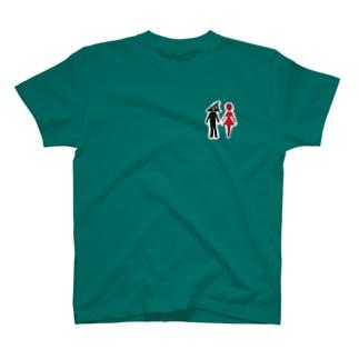 スリスリくん ピクト トイレ T-shirts