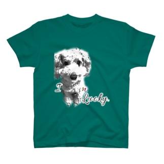 I am lucky. T-shirts