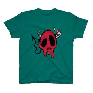 Devil Skull-Red- T-shirts