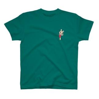 ひょっこりウサギTシャツ T-shirts