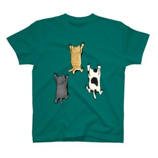 登ってくるネコたち T-Shirt