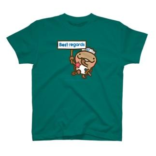 邑南町ゆるキャラ:オオナン・ショウ『best regards』 T-shirts