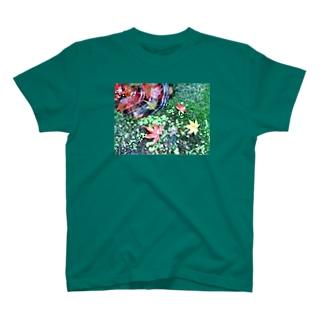 苔とモミジ T-shirts