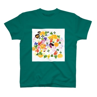 幸せぎゅぎゅっとシール柄 T-shirts