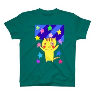 とらねこねここ ながれぼし T-shirts