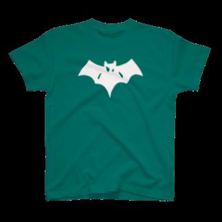 こおろぎさんちのシンプルこうもり T-shirts