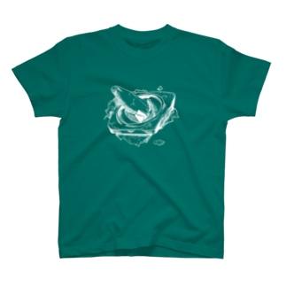 割れまくったカラーコーンのTシャツ(白) T-shirts