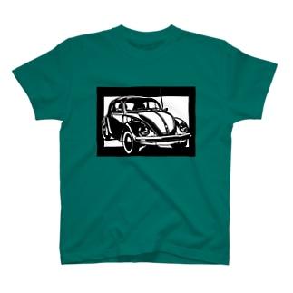 Volkswagen ビートル切り絵デザイン T-shirts