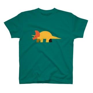 恐竜(トリケラトプス) T-shirts